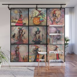 Halloween Witches by Molly Harrison Fantasy Art Wall Mural