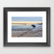 Winter Harbor Framed Art Print