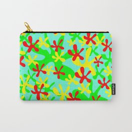 Abstract cute fanciful funny lovely flower shapes design. Carry-All Pouch