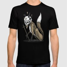 Kitsune Demon Fox X-LARGE Black Mens Fitted Tee
