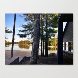 Spring Camping on Sebago Lake Canvas Print