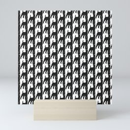 Schnauzer Pattern Mini Art Print
