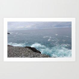Cold cantabrian sea Art Print