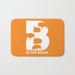 B is for Bison - Animal Alphabet Series Bath Mat