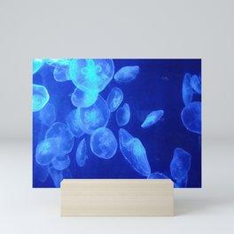 Blue Jellyfish Mini Art Print