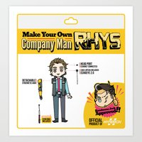 Make your Own Company Man Art Print