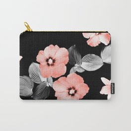 Living Coral Floral Dream #1 #flower #pattern #decor #art #society6 Carry-All Pouch