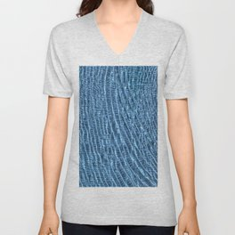 Clear Blue Water Ripples Unisex V-Neck