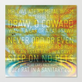 Palindrome Number 1 Canvas Print