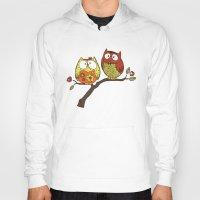 decorative Hoodies featuring Decorative Owls by sheena hisiro
