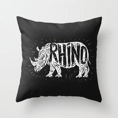Rino Tribe Throw Pillow