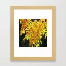 Abstract Golden Foliage Framed Art Print
