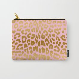 Leopard (Pink & Gold) Carry-All Pouch