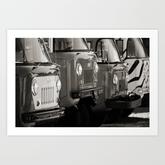 Forward Control Jeeps Art Print