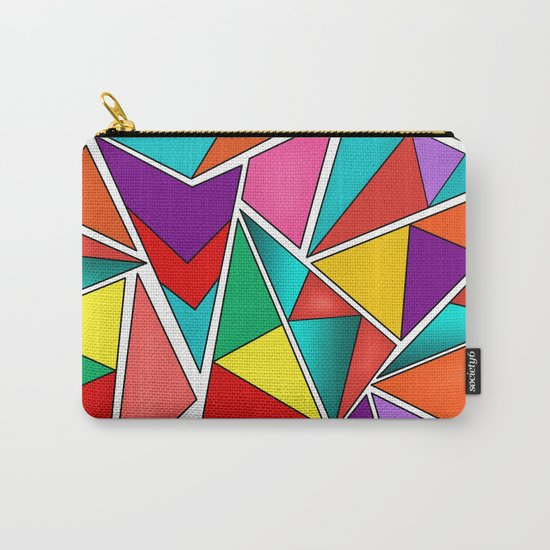 A colorful, abstract pattern polygons . Carry-All Pouch
