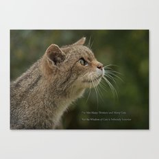 The Wisdom of Cats Canvas Print