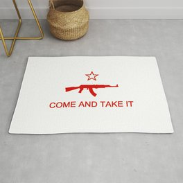 Come and Take It AK47 Red Rug