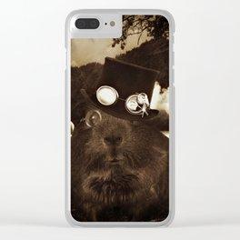 Steampunk Guinea Pig Clear iPhone Case