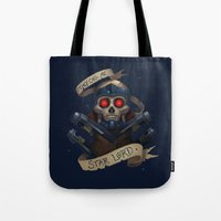 the who Tote Bags featuring Who? by Michael B. Myers Jr.