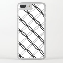 Leafy Grate Pattern Clear iPhone Case