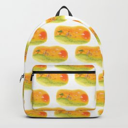 Children playing in the field at the sunset Backpack