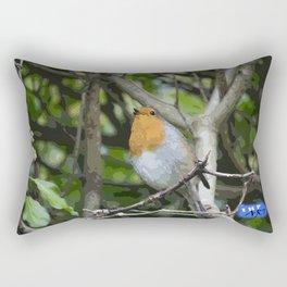 Robin on a branch Rectangular Pillow