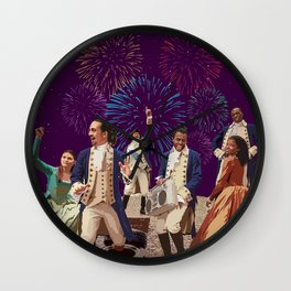 Hamilton's Party  Wall Clock
