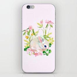 springtime bunny iPhone Skin