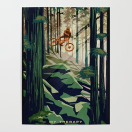 MY THERAPY MOUNTAIN BIKE POSTER Poster