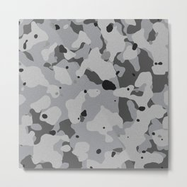 Crome Camouflage Metal Print