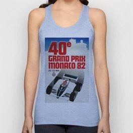 Gran Prix de Monaco, 1982, original vintage poster Unisex Tank Top