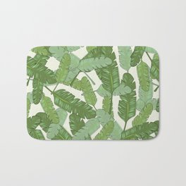 Banana Leaf Print Bath Mat