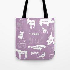 Animal Noises 2 (Lavender) Tote Bag