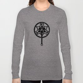 Vintage Raleigh Crankset Silhouette Long Sleeve T-shirt