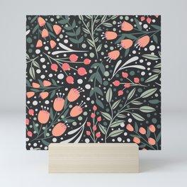 Secret Garden - Floral Pattern Mini Art Print