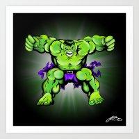hulk Art Prints featuring Hulk by Liam Sweeney