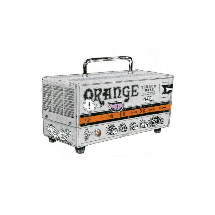 Orange Terror Bass Amplifier ( with stickers) Comforters