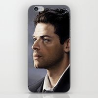 castiel iPhone & iPod Skins featuring Castiel by Ansze