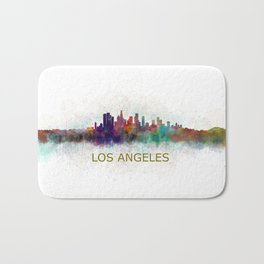 Los Angeles City Skyline HQ v4 Bath Mat