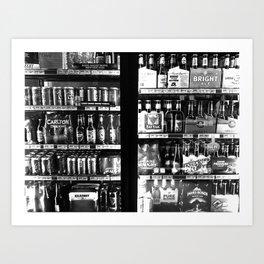 Beer fridge Art Print