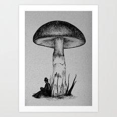 Under the Toadstool Art Print