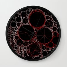Black and Red Abstract 2 Wall Clock