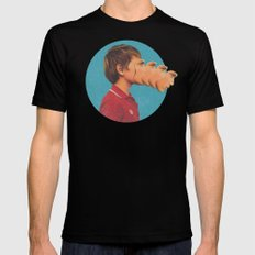 Sutphin Boulevard Black LARGE Mens Fitted Tee