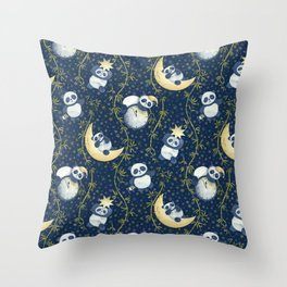 Sh, Sh, Panda Is Sleeping Throw Pillow