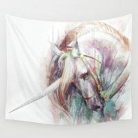 unicorn Wall Tapestries featuring Unicorn by beart24