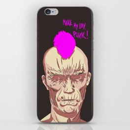 MAKE MY DAY, PUNK ! // Terreur Graphique iPhone Skin