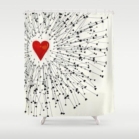 Heart&Arrows Shower Curtain
