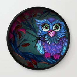 Owl in the Forest Wall Clock