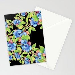 Wild Blueberries Lattice Design Stationery Cards