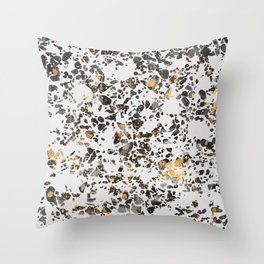 Gold Speckled Terrazzo Throw Pillow
